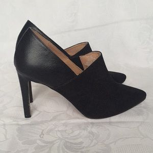 "EUC H&M Black shoes  3 3/4"" heel suede and leather"